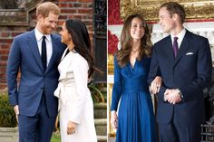 The Rings! The Dresses! Comparing Meghan Markle and Kate Middleton's Engagement Photos