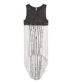Sleeveless jersey dress | Dark Grey / Light Grey | Ladies | H & M DE