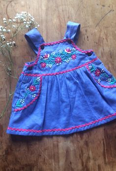 Hand Embroidered Cotton Dress | FellowDreamers on Etsy