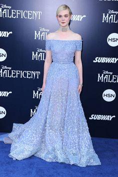 "Elle Fanning at the LA premiere of ""Maleficent"""