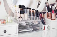 Inside My Acrylic Makeup Storage Unit #makeuporganizeracrylic
