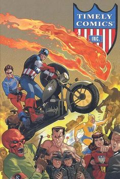 Timley Comics characters including Captain America and Bucky