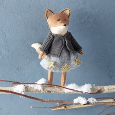 Erika Barratt Fox Ornament - Girl with Garland