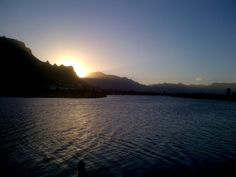 Sunset over the Sandvlei Lagoon