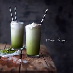 It's still crazy town hot in Copenhagen and I'm dreaming of these Matcha Frappes all while we cool off in the shadow of a tree or with a dip in the sea  Recipe on www.earthsprout.com