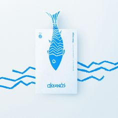 Hurtikonn - - World Brand Design Society / ln Greek, Okeanós means the ocean. I made this choice to give the brand a top of the range feel. Similar to the words in the sustained vocabulary, it ... Box Branding, Brand Packaging, Branding Design, Logo Design, Graphic Design, Food Packaging, Valentine Template, Fish Illustration, Design Department