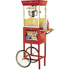 Nostalgia Electrics Vintage Popcorn and Concession Cart by Nostaglia *** Click image to review more details.  This link participates in Amazon Service LLC Associates Program, a program designed to let participant earn advertising fees by advertising and linking to Amazon.com.