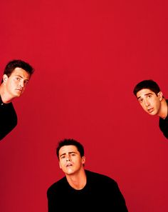 Matthew perry , matt leblanc, and david schwimmer