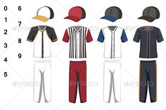 Baseball Jersey  #GraphicRiver         A vector illustration of baseball jersey design. Vector illustration, zip archive contain eps 10 and high resolution jpeg.                     Created: 29 November 13                    Graphics Files Included:   Vector EPS                   Layered:   No                   Minimum Adobe CS Version:   CS             Tags      apparel #athletic #baseball #baseball cap #blank #clothes #clothing #design #drawing #hat #illustration #jersey #kit #pants #shirt…