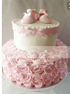 Simple but beautiful baby shower cake