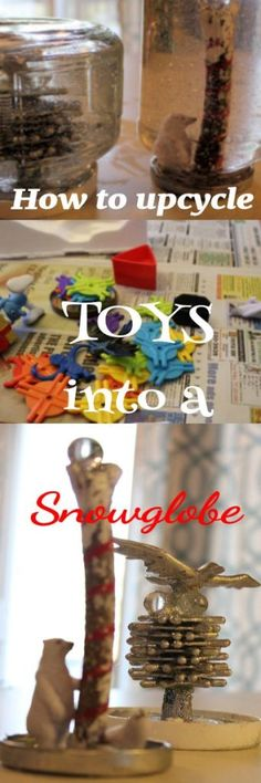 Need an activity for the fam over the holidays?  Make these cute upcycled snow globes ~ Viral Upcycle