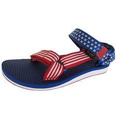 5fb032bf54d6f Teva Womens Original Universal 4th Of July Sport Sandal Shoes RedBlue US 6     Visit