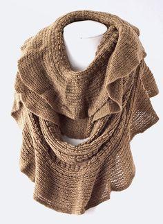 Brown Infinity Scarf  www.shopretrospection.com