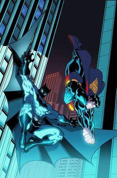 Superman/Batman # 1 variant cover by Ed McGuinness and Dexter Vines. Dc Comics Heroes, Dc Comics Characters, Dc Comics Art, Comic Book Heroes, Marvel Dc Comics, Rogue Comics, Cosmic Comics, Comic Books, Mundo Superman
