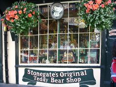 Shop front window of the Stonegate's Original Teddy Bear Shop
