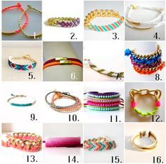 Friendship bracelets via 6th Street Design School.