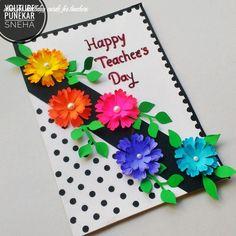 Teachers Day Card Design, Greeting Cards For Teachers, Teachers Day Greetings, Teachers Day Gifts, Handmade Teachers Day Cards, Teacher Appreciation Cards, Teacher Cards, Card Making Competition, Teacher Birthday Card