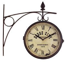 cool train station clock to hang in lukes vintage train room
