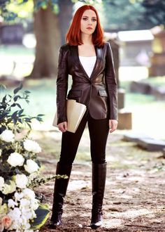 "Natasha Romanoff (Scarlett Johansson) in ""Captain America: The Winter Soldier"" - visit to grab an unforgettable cool 3D Super Hero T-Shirt!"