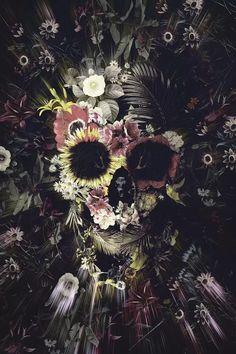 Wood Wall Art, Framed Wall Art, Paz Hippie, Maritime Tattoo, Totenkopf Tattoo, Skull Artwork, Skeleton Art, Skull Wallpaper, Floral Skull