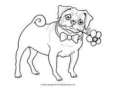 Cute Printable Pug Coloring Page By The Inky Octopus