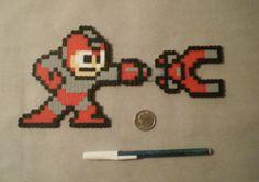 Mega Man, w/ Magnet Missile perler beads from Jandrem Designs