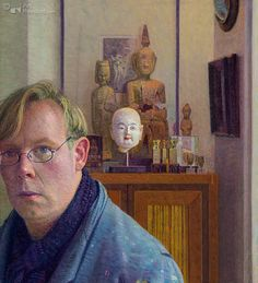 Self Portrait by Piet Sebens on Curiator, the world's biggest collaborative art collection. Roland Barthes, Magic Realism, Collaborative Art, Mirror Image, Modern Art, Contemporary, Self, Portraits, World's Biggest