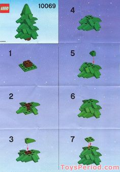 LEGO Christmas Tree Instructions | LEGO 10069 Christmas Tree Set Parts Inventory…
