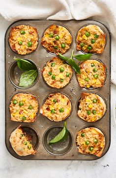 Turn a family-favourite into delicious freezer-friendly muffins - perfect for school and work lunch boxes. Savory Muffins, Savory Snacks, Savoury Dishes, Bacon Muffins, Vegetarian Tart, Vegetarian Recipes, Cooking Recipes, Healthy Recipes, Rice Recipes