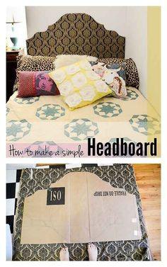 Build a simple, temporary headboard.