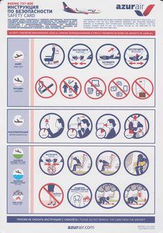 Safety Card AzurAir Boeing B737-800 (1)