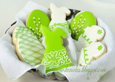 Fabulous Green and White Easter Cookies