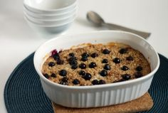 Chocolate  Chillies - Baked Oatmeal with Blueberries and Bananas