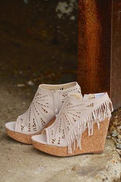 7fa7063b76134 Fringe Delight Wedge - Cream Shoe Boutique, Fashion Boutique, Candy  Boutique, Pretty Shoes