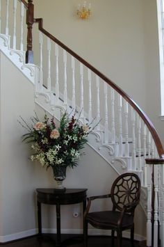 Plaster Mold Adds Beauty to a Staircase – Walls Stencils, Plaster Stencils, Painting Stencils, Plaster Molds Elegant Home Decor, Elegant Homes, Raw Wood Furniture, Traditional Staircase, Stair Walls, Decorative Plaster, Living Room Decor Inspiration, Concrete Stairs, Stair Handrail