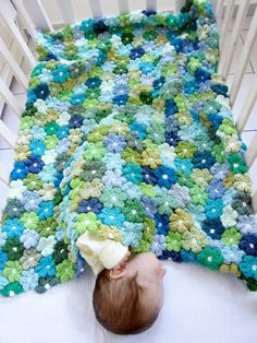 Crochet. Blanket. I want like this, so beautiful.