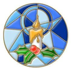 Stained Glass Window Christmas Drawing Stock Illustration 41647549 : not quite.but think cubist background in cool colors against warm glow of candle light orb colors Stained Glass Ornaments, Stained Glass Paint, Stained Glass Birds, Stained Glass Christmas, Stained Glass Designs, Stained Glass Projects, Stained Glass Patterns, Glass Christmas Ornaments, Stained Glass Windows