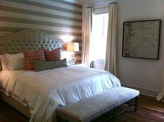 Dormitorios con decoracin a rayas  Decoracion