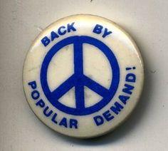 "Vintage 1"" PEACE SIGN"