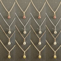 Beautiful Diamond Briolette pendants handmade in the workshop.