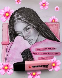 In love with my new sketch of She's an amazing musician and you should check out her music😍 My new Favourite thing is drawing… Cool Art Drawings, Pencil Art Drawings, Art Drawings Sketches, Cartoon Drawings, Black Love Art, Black Girl Art, Aesthetic Drawing, Aesthetic Art, Realistic Eye Drawing