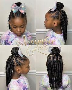 Black Kids Braids Hairstyles, Little Girls Natural Hairstyles, Toddler Braided Hairstyles, Lil Girl Hairstyles, Cute Hairstyles For Kids, Braids For Black Hair, Little Girl Twist Hairstyles Black, Little Girl Box Braids, Braids For Kids