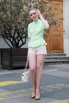 KAYTURE: IN THE VILLAGE Lace Shorts, White Shorts, Eclectic Style, Style Me, Vintage Outfits, Short Dresses, Dress Up, Street Style, Stylish
