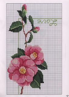 Sunshine Home Decor: Ric Amare kanaviçe dergisi ,free ceoss stitch patterns Cross Stitch Flowers, Cross Stitch Patterns, Bargello, Embroidery Stitches, Diy And Crafts, Lily, Floral, Handmade, Free