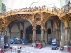 This prime example of Art Nouveau in architecture is found in Paris in the Grand Palais.