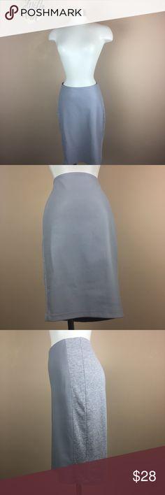 "Bailey 44 M Gray Elastic Waist  Ponte Pencil Skirt CONDITION:  (4) EXCELLENT BRAND: BAILEY 44 SIZE: M  MEASUREMENTS: WAIST (31"") LENGTH (23"") DETAILS: LEATHER FRONT PANEL PENCIL SKIRT LINED Bailey 44 Skirts Pencil"