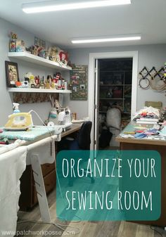 Organize your sewing room. Get all 30 days of organizing plus some extra printables to help along the way. Time to take back that space! via @patchworkposse