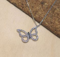 Butterfly Pendant,Butterfly silver 925,Silver Pendant,Silver Necklace,Chain…