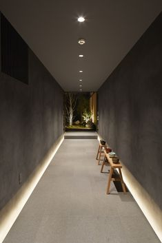 Galerie des Gästehauses in Kyoto / B. Architektur Design Studio - 9 Galerie des Gästehauses in Kyoto / B. Design Hotel, Design Entrée, Flur Design, Regal Design, Lobby Design, Design Studio, House Design, Design Ideas, Light Architecture