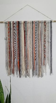 Bohemian YarnTapestry - Beige, grey, orange, and red This tapestry makes a great wall decor! Sizes: Medium: Length 18 x height 32 medium/large: Length 24(2ft) x height 32 large: Length 36(3ft) x height 32 Extra large: Length 48(4ft)x height 32 I spend a lot of time browsing for